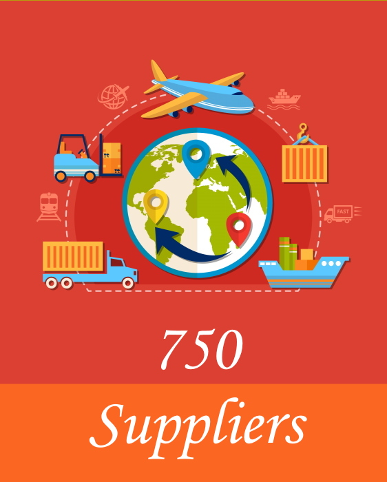 750 suppliers and distributors for your Amazon FBA business