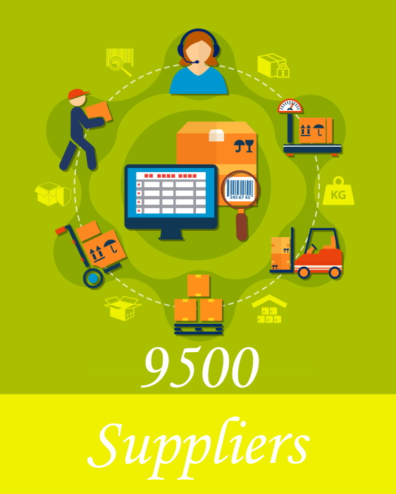 9500 Suppliers and Distributors for your Amazon FBA business