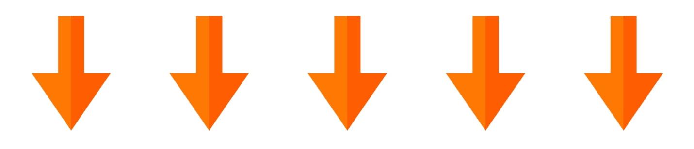 row of orange arrows